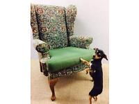 Vintage wing armchair free delivery in London