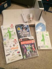 Nintendo Wii fit bundle and games