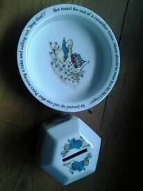 Wedgwood PETER RABBIT Dish and Money Box