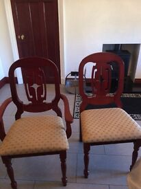 Brand New in Box Mahogany Dining Chairs
