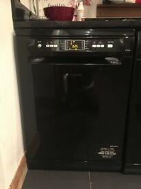 Hotpoint Aquarius Dishwasher - Full Size Black. Less than 3 Years Old Good Condition- SOLD