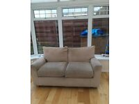 2 cream next sofa's for sale