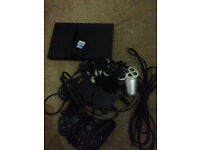 Sony PS2 Slim with 2 controllers Many Games, memory card etc