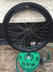 26 inch front disk brake mountain bike wheel with tyre 26x2.2