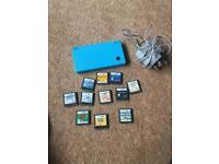 Blue Nintendo DSI & games