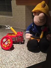 Fireman Sam Large Ted and Remote Fire Engine