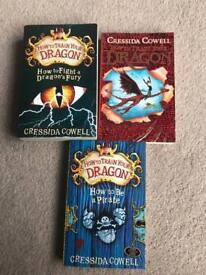 How to train your dragon books x3