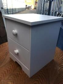 White 2 drawer chest FREE DELIVERY PLYMOUTH AREA