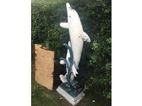 Dolphin garden ornament 175cm tall