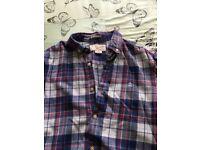 Men's check shirts xxs-medium