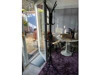 6ft black clothes coat rail hanger rack