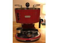 Vintage Delonghi espresso machine - red
