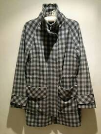 Designer grey wool coat
