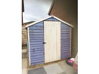 8x6' Shed in Lilac and Cream £99