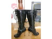 New Rock Boots Heels Metal Stiletto 6 39