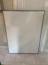 2 sided non magnetic white board 90cm x 120cm