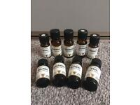 9 bottles of pure essential oils