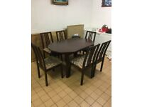 Expandable Dining Table and Chairs Set