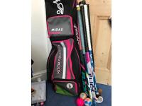 Kookaburra Hockey Bags with sticks and balls