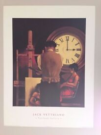 JACK VETTRIANO ART PRINT 80cm x 60cm ,'THE CRITICAL HOUR OF 3AM' RARE AUTHENTIC 1994 PRINT