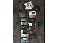 Phones Bundle 13 Phones and 2 Cameras Iphone LG Samsung