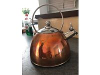 Copper effect crofton whistling kettle