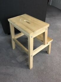 Ikea BEKVÄM Step Stool Wooden Birch Solid (2 available FREE!)