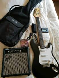 Electric guitar and amp set
