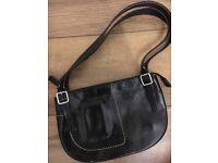 SISLEY black leather bag with dustbag