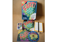"""FART"" Fast 'n' flatulent card game. With sound-effects CD. From 2006. Complete."