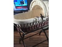 Wicker Moses basket and stand izzywotnot
