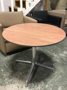 Round Coffee Table with Chrome Base - $75.00
