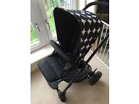 Mamas and Papas Sola pushchair incl carrycot, foot muff, rain cover, & carseat adaptors