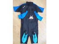 Hot Tuna Shorty Wetsuit, Top and Shoes