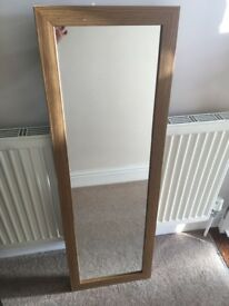 Oak effect mirror £8