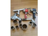 Job lot of airtools and imperial sockets