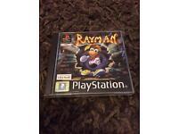 PlayStation 1 boxed Rayman black label version ps1