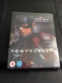 Captain America Civil War Lenticular Steelbook includes 3D