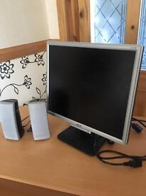 ACER COMPUTER SCREEN WITH SPEAKERS