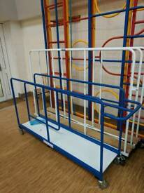 Mats storage trolleys