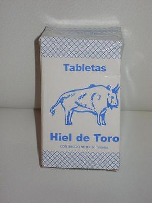 BULL'S GALL /BILE- HIEL DE TORO 30 TABLETS Increace Energy-Memory Enhance-Detox