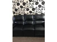 *** Black Recliner Sofas *** x 4