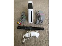 Nintendo Wii Games Console + All Leads & Cables   Full Working Order  