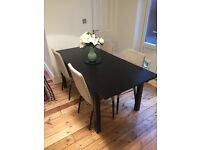Excellent condition extendable dining table and 4 chairs