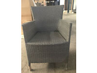 *** GREY RATTAN STYLE GARDEN CHAIRS SET OF 6 *** CUSHIONS NOT INCLUDED