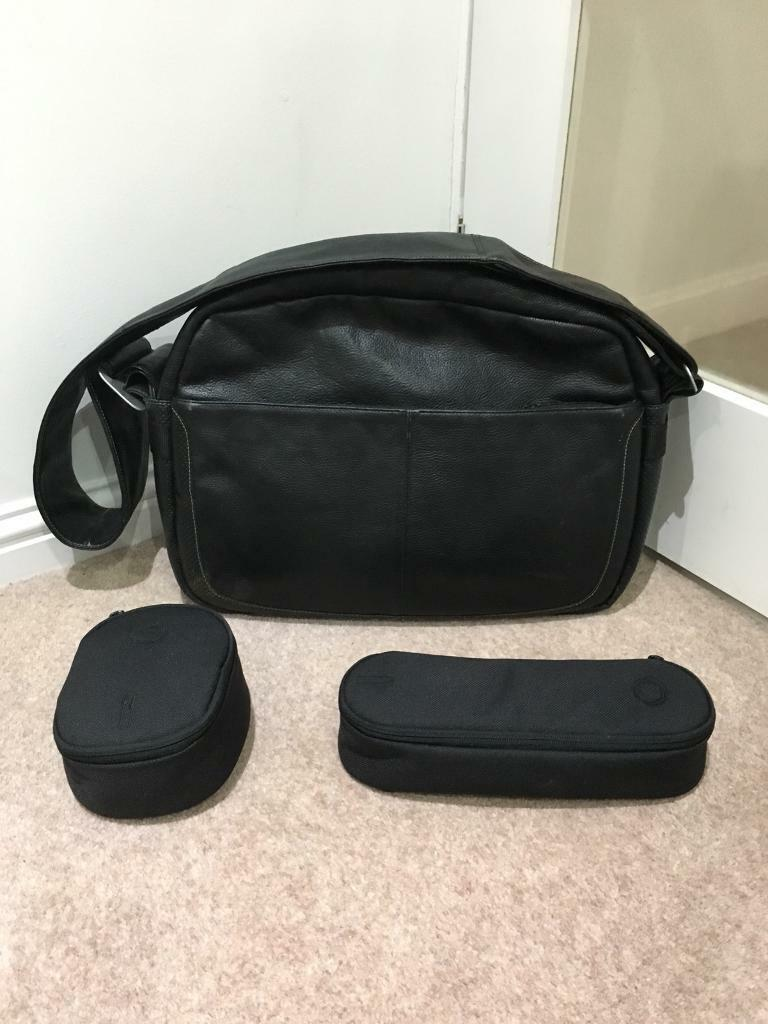 Leather Bugaboo Baby Changing Bag with two Accessories