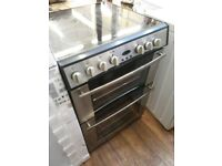 60CM BLACK /GREY TWIN CAVITY CERAMIC COOKER COMES WITH GUARANTEE