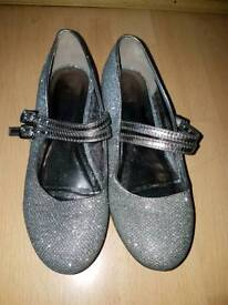 M&S size 2 girls sparkly heels, party shoes