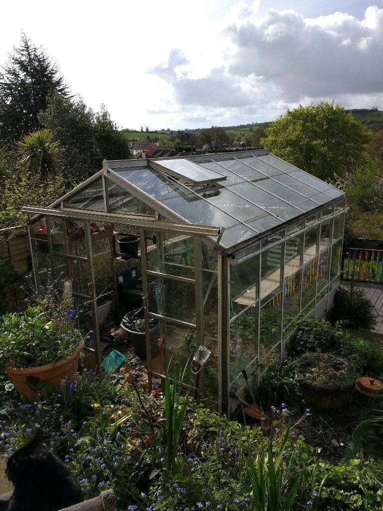 Glass Amp Aluminium 12 X 8 Greenhouse Wind Down Roof Vent