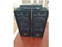 Auna Speakers, Pyle Amplifier & Leads